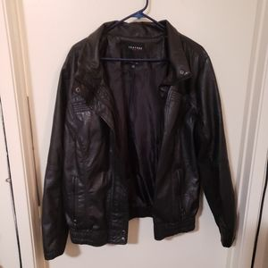 Black Leather Therapy Brand Jacket